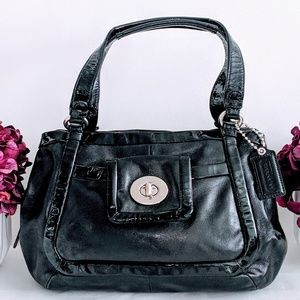 Black Coach Triple Compartment Bag